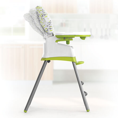 the Stack highchair by Chicco features 3 recline positions to make baby and you comfortable during feeding time.