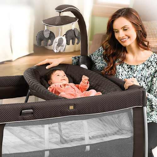 The Chicco 2 in 1 napper can be used as a bassinet or on the floor