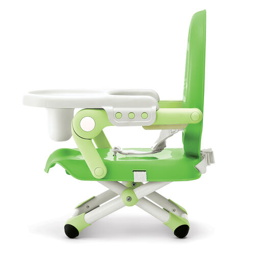 The adjustable legs on the Pocket Snack Booster Seat allow you to find the right position for your child