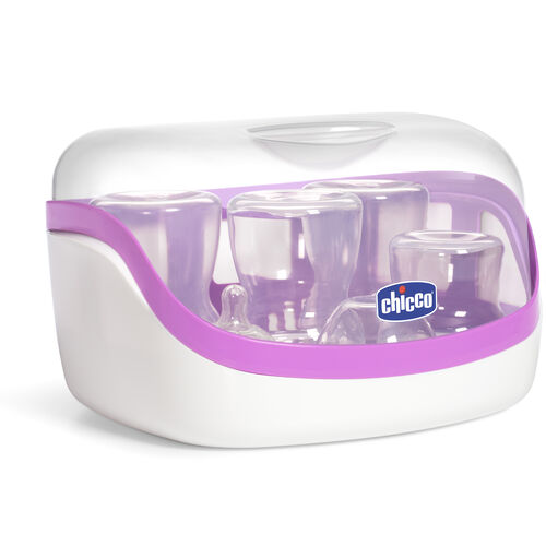 Sanitize baby bottles, pacifiers, teethers, and more with the NaturalFit Microwave Sterilizer