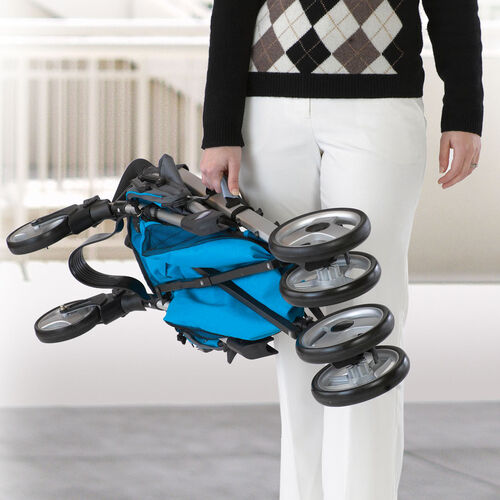 The Liteway Plus Stroller folds up compactly for easy storage