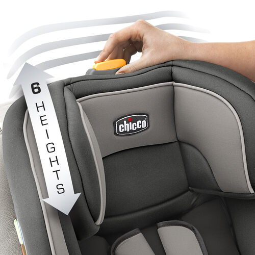 Choose from 6 headrest heights as your child grows in to the NexFit Convertible Car Seat