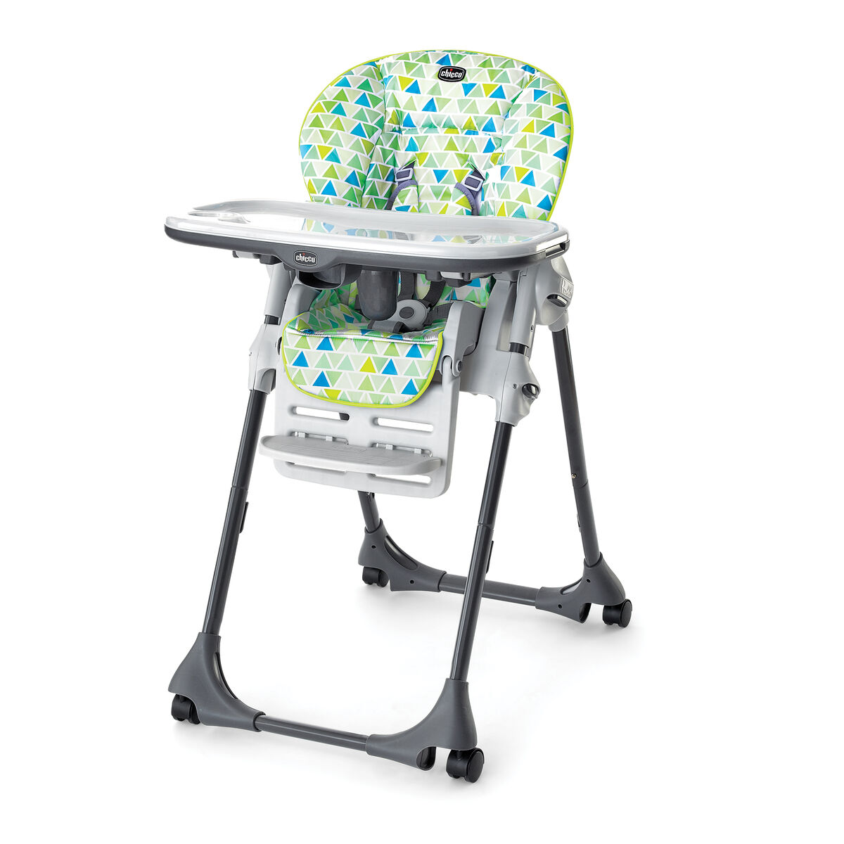Chicco Polly High Chair / REPLACEMENT WASHABLE TRAY LINER - EUC Replace the removable Polly High chair tray liner for easy serving and quick clean-up Can be quickly ad easily fixed / removed from the Polly High Chair tray.