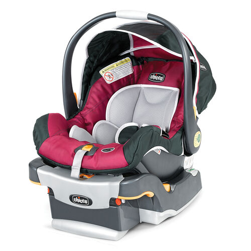 Chicco KeyFit 30 Infant Car Seat and Base in bright pink with dark gray - Aster Fashion