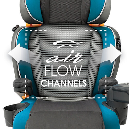 The Chicco Kid Fit Zip Air provides breathability for your child with air flow channels