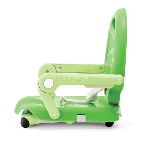 To use the Pocket Snack Booster Seat in its lowest position, simply keep the legs folded into the base of the seat