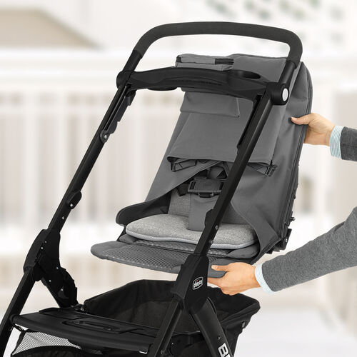 Removable seat converts Bravo LE Stroller to frame carrier