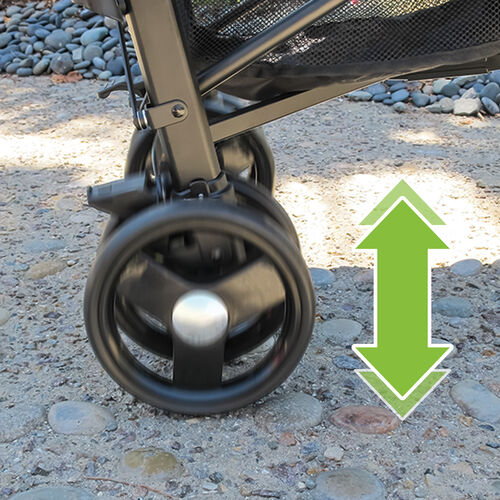With the rear-wheel suspension on the liteway stroller, baby can enjoy a smooth ride on all terrain