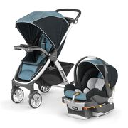 The revolutionary 3-in-1 travel system is the smartest quick-fold, self standing stroller in its class.