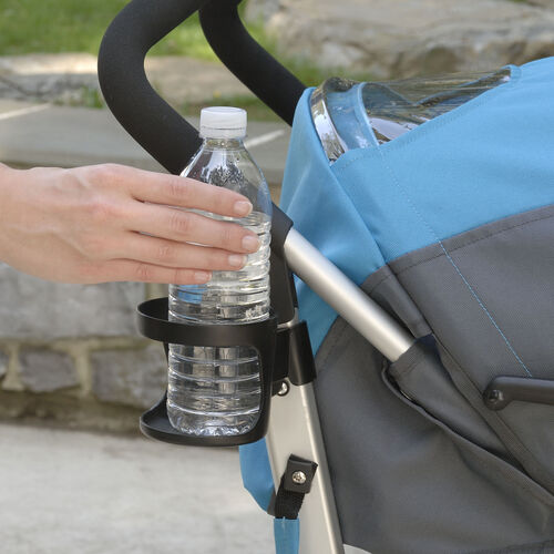 Convenient cupholder on the side of the Chicco Liteway Plus Stroller