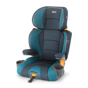 The KidFit booster car seat features a 2 in 1 system - the Full Back booster seat easily converts into a backless booster for older children