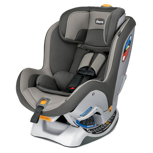 Chicco NextFit Convertible Car Seat in monochromatic dark gray with light gray accents - Infiniti