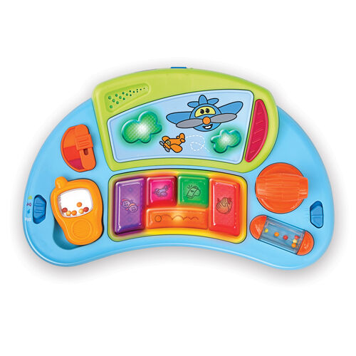 The musical tray of the D@nce Walker can be removed to use as a standalone toy or used as a Chicco Baby Walker DJ tray