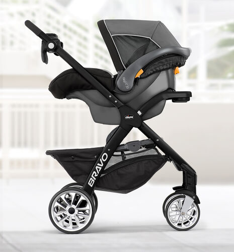 Bravo LE Stroller with KeyFit 30 Infant Car Seat in KeyFit Carrier Mode