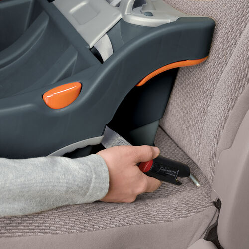 LATCH connector feature allows you to hook the KeyFit infant car seat to your car's anchor hooks