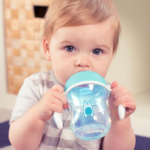 NaturalFit 7oz Soft Silicone Spout Transition Cup - Blue in