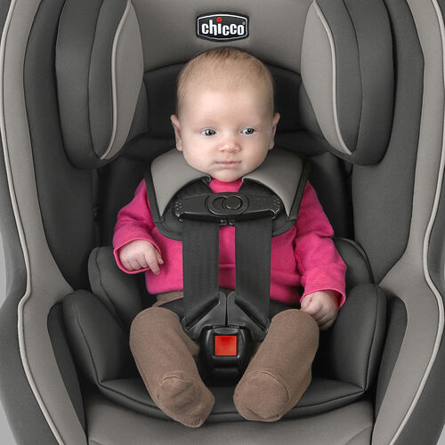 The NextFit Zip convertible car seat infant insert protects small babies from 5 - 11lbs