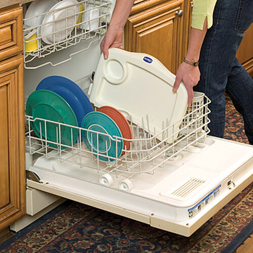 The tray on the Chicco 360 Hook-On Chair is dishwasher safe, meaning an even easier cleanup after meals