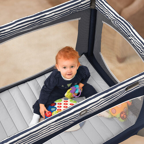 Toddlers will have lots of room to play in the Lullaby Baby Playard