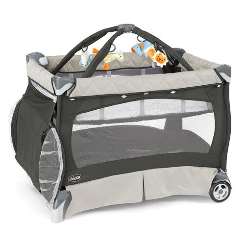 Chicco Lullaby Playard SE - dark gray and beige - Perseo