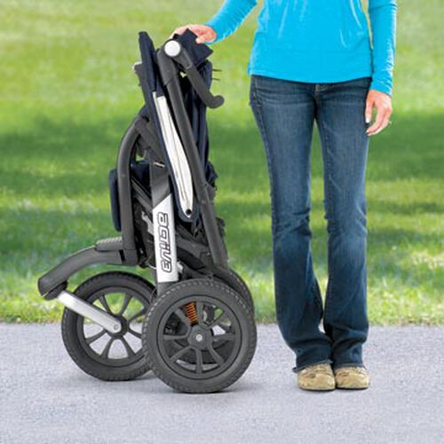 One-hand standing fold position for Activ3 Jogging Stroller Storage