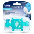 NaturalFit 12M+ Soft Silicone Orthodontic Set of 2 Pacifiers - Blue in