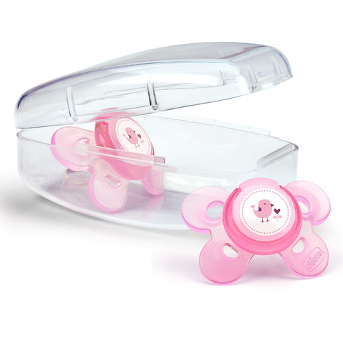 NaturalFit Comfort Shield 0-6M Set of 2 Pacifiers - Pink in