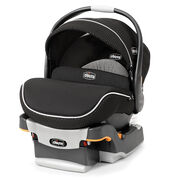 Chicco KeyFit 30 Zip Infant Car Seat - Obsidian black with dimpled black fabric