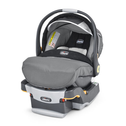 Chicco KeyFit 30 Infant Car Seat - Graphica - black and grey with raised circle fabric detail