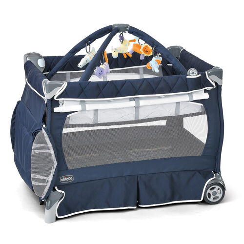 Chicco Lullaby LX Playard in navy blue with white trim - Pegaso