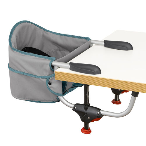 Chicco Caddy Hook On Chair in gray with light blue piping - Vapor