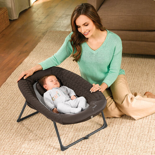 The Napper from the Chicco Lullaby Dream playard can be used on the floor.