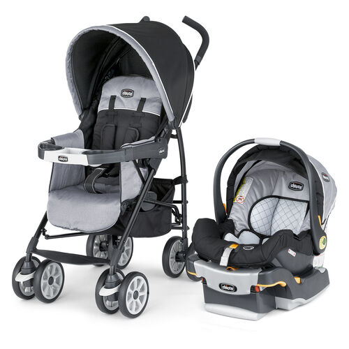 Chicco Neuvo Travel System Techna style - black and gray