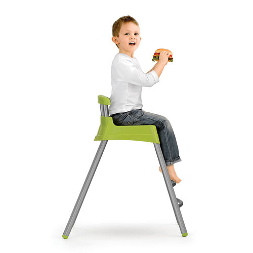 The Stool mode of the Chicco Stack highchair features 2 welded leg rungs for easy step and sit