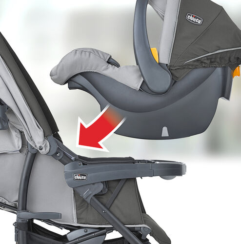 How to insert the KeyFit 30 Infant Car Seat into your Neuvo Stroller