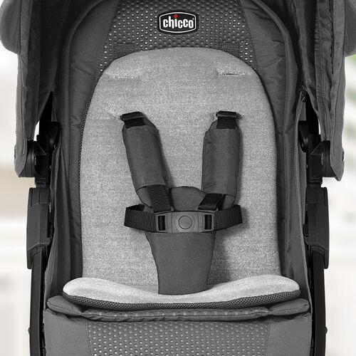 Reversible, premium fabric seat insert on Bravo LE Stroller