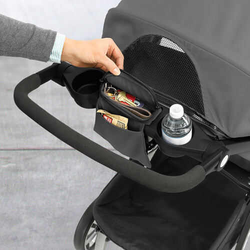 Convenient storage area for parents on the Bravo LE Stroller