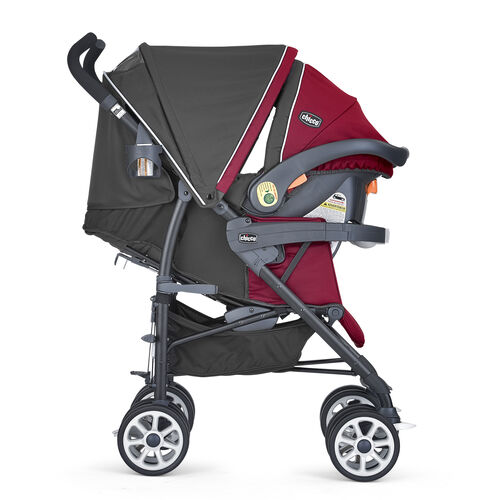 The Chicco Neuvo Travel system granita features an adjustable, removable canopy with peek-a-boo window