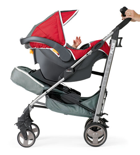 The Chicco Liteway Plus stroller can be converted to a KeyFit Carrier for your infant