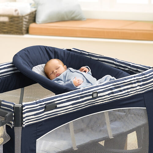 An angled infant napper is the perfect size for newborn babies