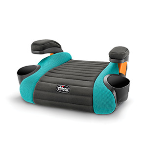 The GoFit Backless Booster Car Seat - Raindrop - Easy to Remove & Washable