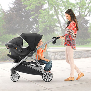 Bravofor2 Standing Amp Sitting Double Stroller Zinc Chicco