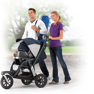 Stylish Everyday Stroller and Fitness Stroller