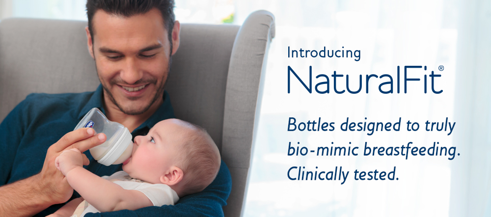 Chicco Natural Fit: The only baby bottles designed to truly bio-mimic breastfeeding