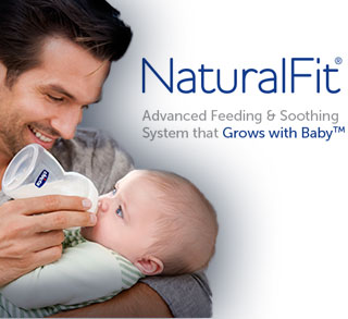 NaturalFit Advanced Feeding and Soothing System that Grows With Baby
