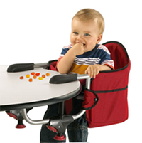 Baby eating in Chicco Baby Hook On Chair