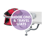 hook-ons and travel seats
