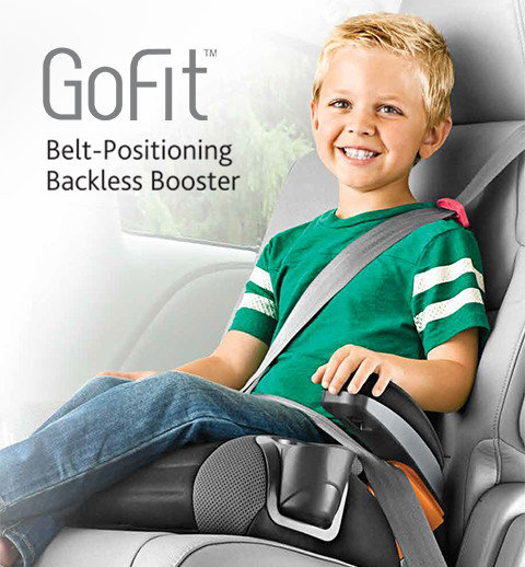 From the makers of the top rated KeyFit & NextFit car seats, introducing the GoFit backless booster designed for big kids 4 years and up. Providing safety and comfort.