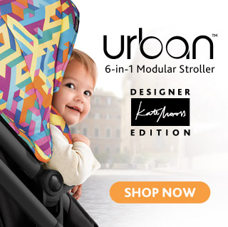 The Chicco Itty Bitty City Urban Stroller designed by Kate Moross