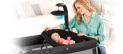Chicco Lullaby Glow playard is a premium all in one playard with LED technology